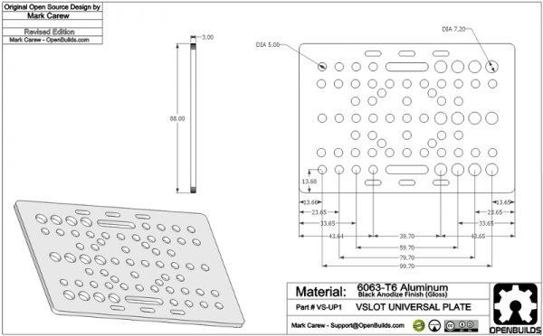 V-Slot-Gantry-Plate-Drawing